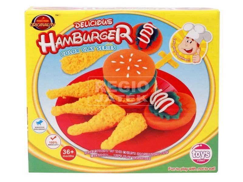 Hamburger készítő gyurmakészlet