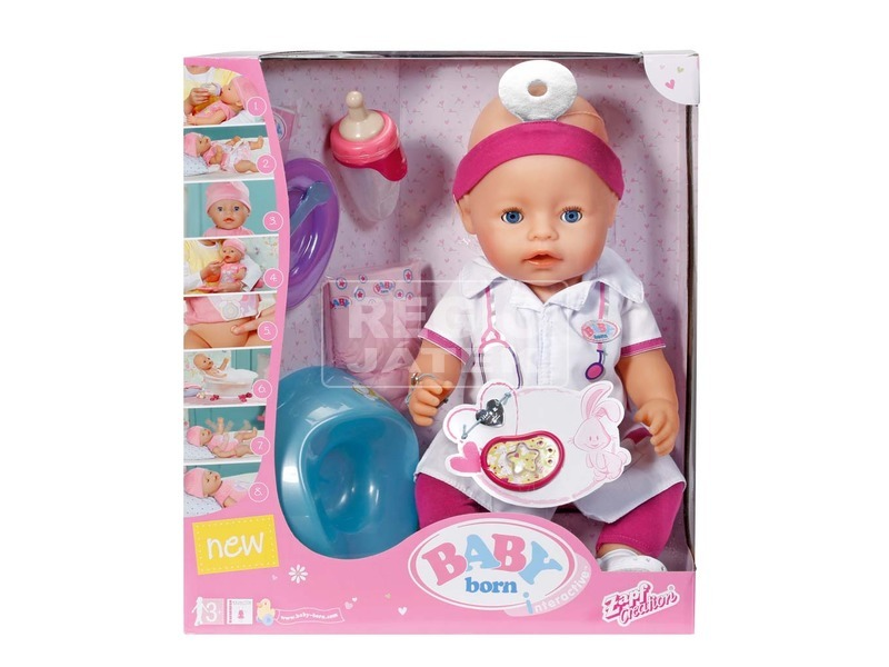 Baby Born 8 funkciós doktor baba - 43 cm