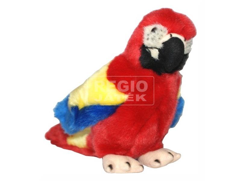 Papagáj plüssfigura - piros, 18 cm