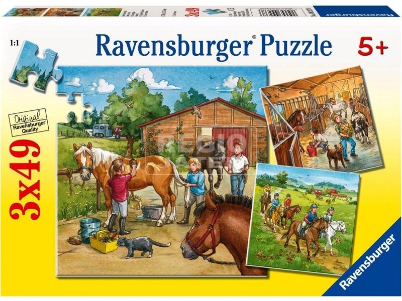 kép nagyítása Puzzle 3x49 db - Lovasiskola