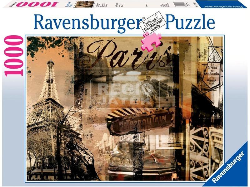 kép nagyítása Puzzle 1000 db - Párizs anno