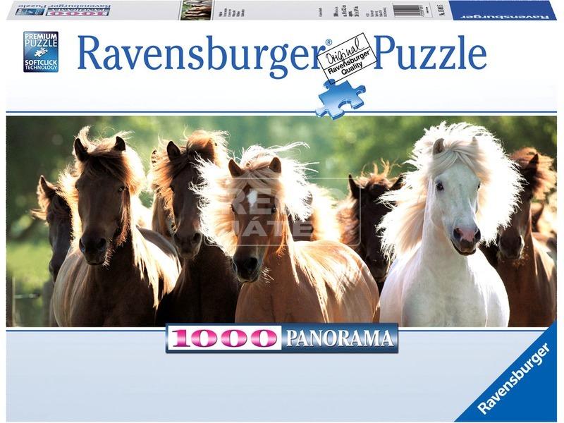 kép nagyítása Vadlovak 1000 darabos panoráma puzzle