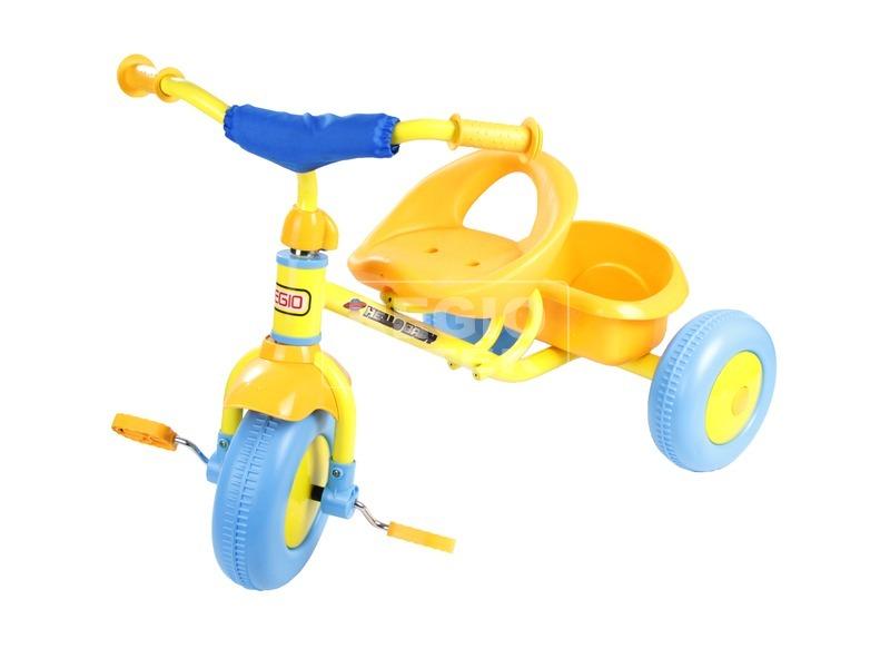 Fémvázas tricikli - sárga
