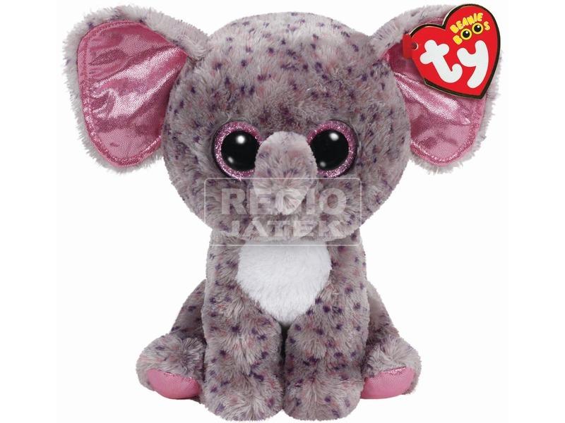 Beanie Boos SPECKS szürke pöttyös elefánt 24 cm