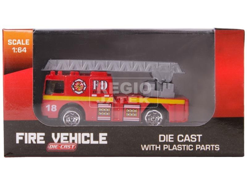 Fém tűzoltó jármű - 1:64, többféle