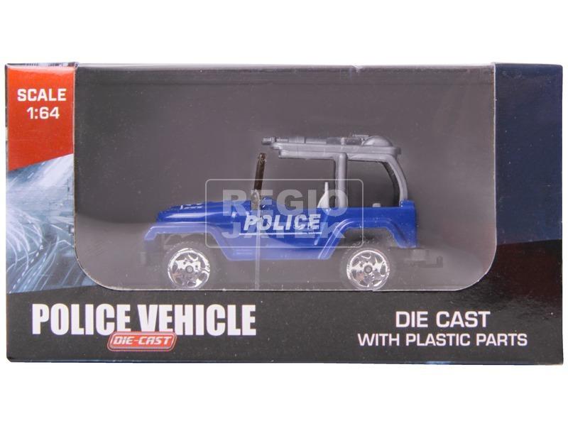 Rendőrségi fém jármű - 1:64, többféle