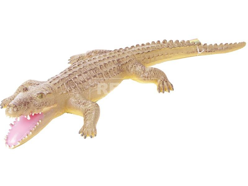 Műanyag krokodil - 65 cm, többféle