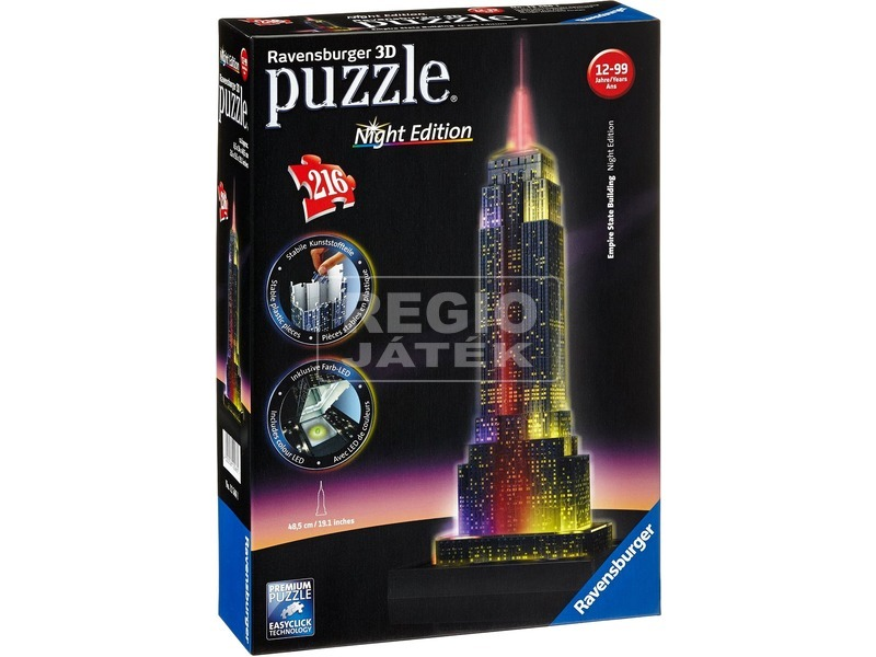 Empire State Building 216 darabos 3D LED puzzle
