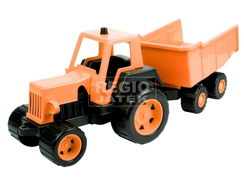 kép nagyítása Műanyag traktor utánfutóval 68 cm - többféle