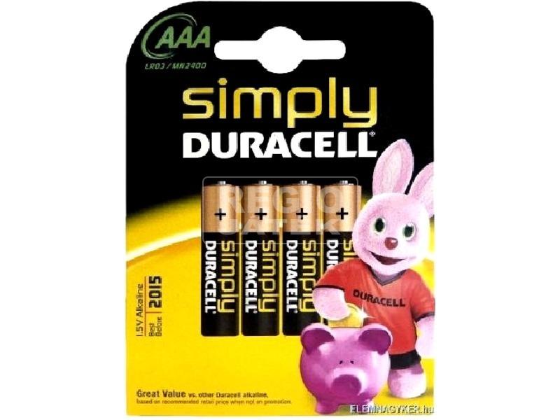 Duracell AAA ceruzaelem 4 darabos készlet