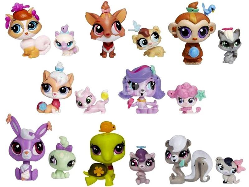 Littlest Pet Shop: mancsos barátok 2 darabos készlet - többféle