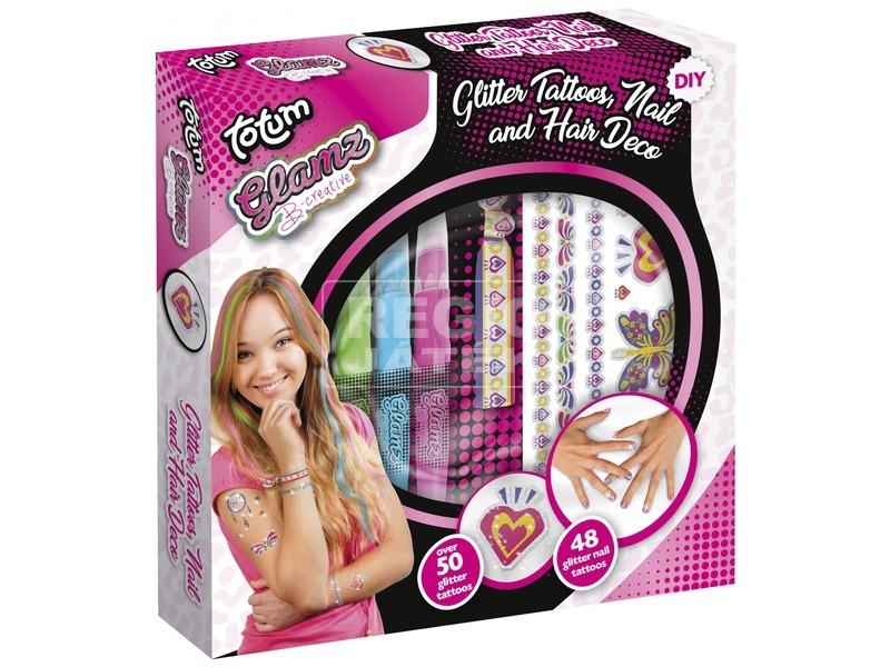 Glamz tetováló, haj- és körömdíszítő készlet
