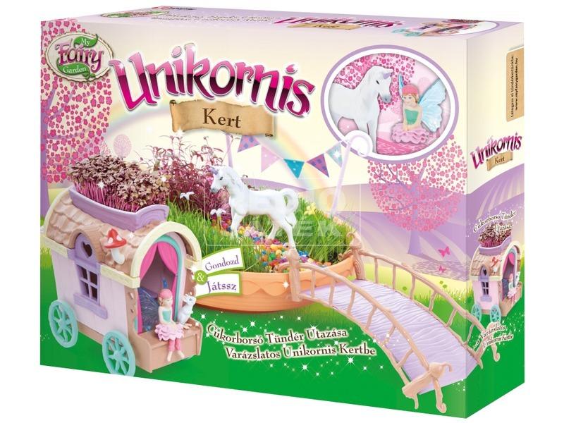 My Fairy Garden Unikornis kert ekhós szekérrel