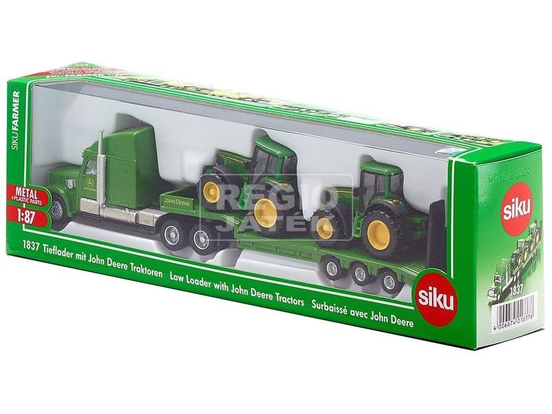 Siku: Kamion John Deere traktorokkal 1:87