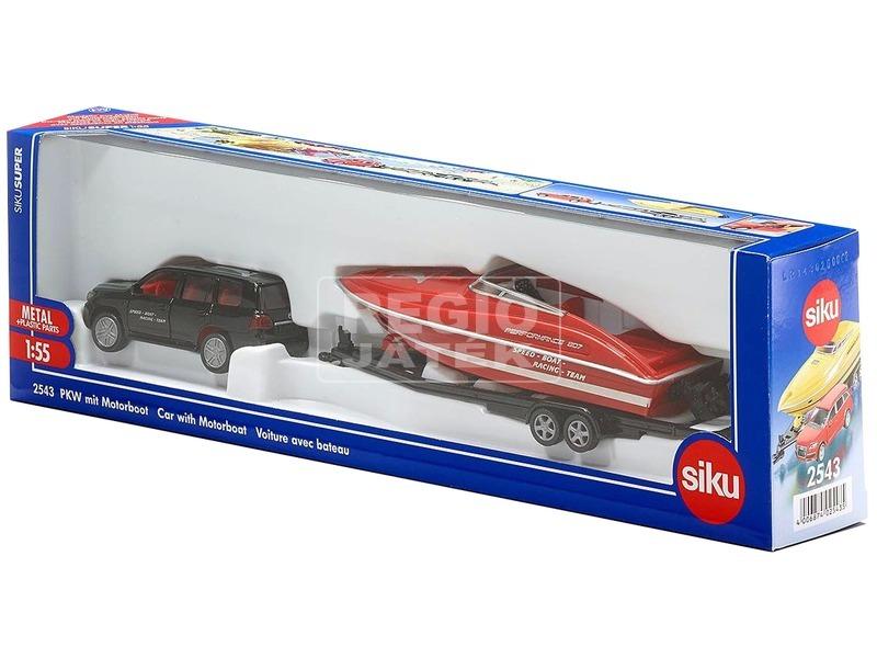 Siku: Audi Q7 autó motorcsónakkal 1:55 - többféle
