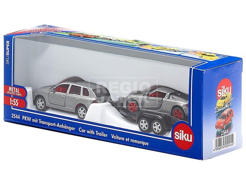 Siku: Fém autó trélerrel 1:55 - többféle