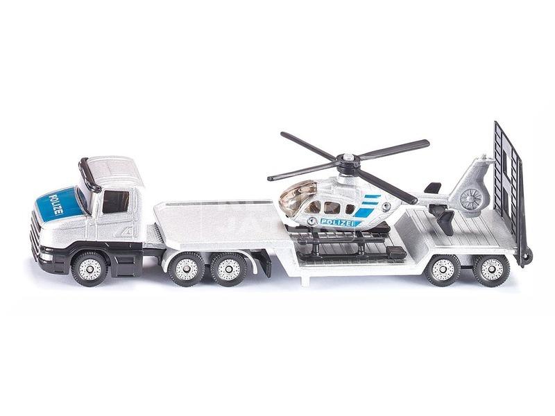 kép nagyítása Siku: Vontató kamion és helikopter 1:55