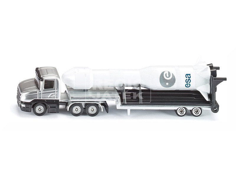 kép nagyítása SIKU kamion rakétás utánfutóval 1:87 - 1614