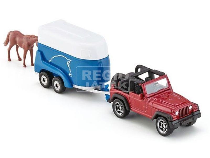 kép nagyítása SIKU Jeep Wrangler lószállítóval 1:55 - 1651