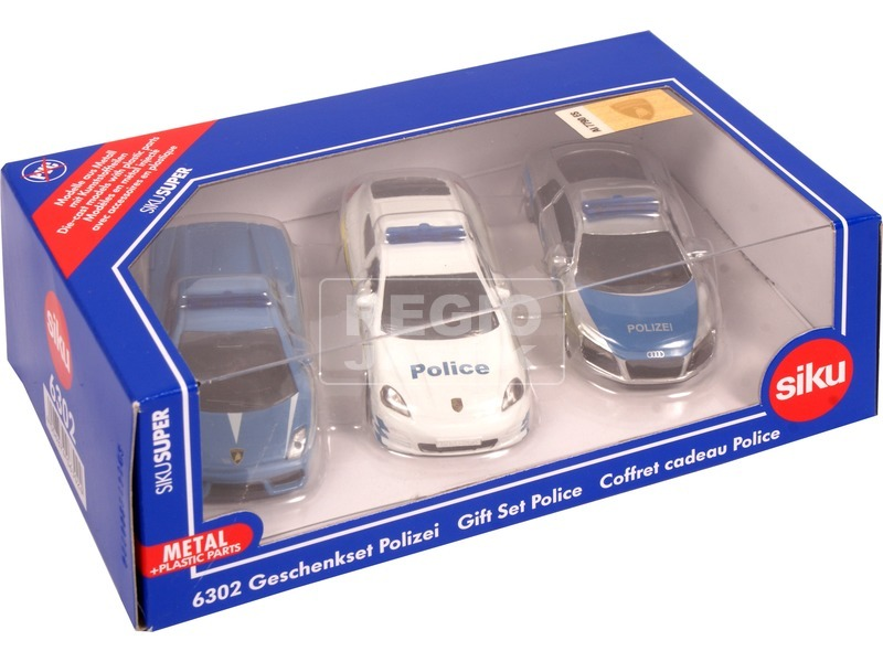 Siku: Lamborghini, Porsche és Audi rendőrautó 1:87
