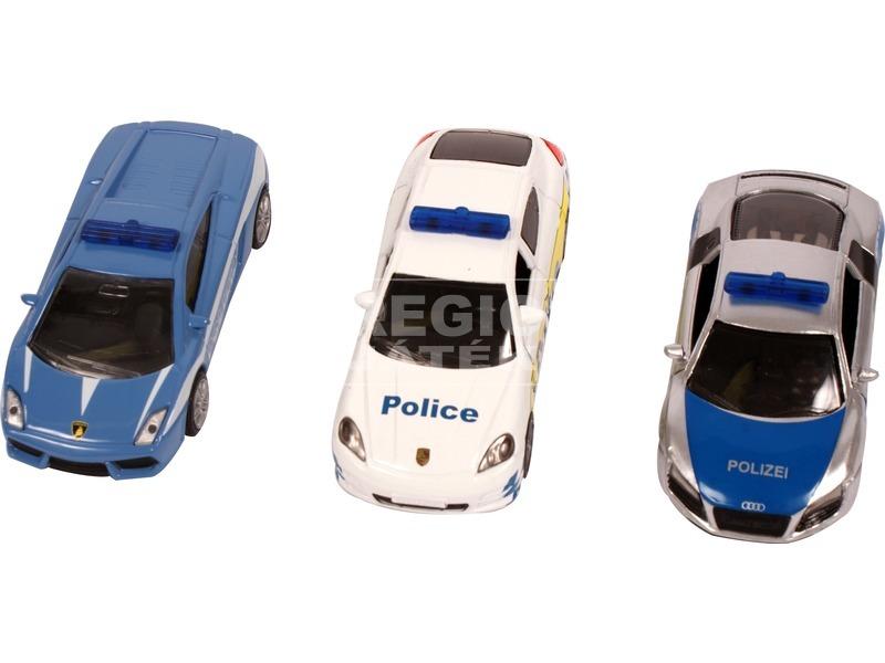 kép nagyítása Siku: Lamborghini, Porsche és Audi rendőrautó 1:87