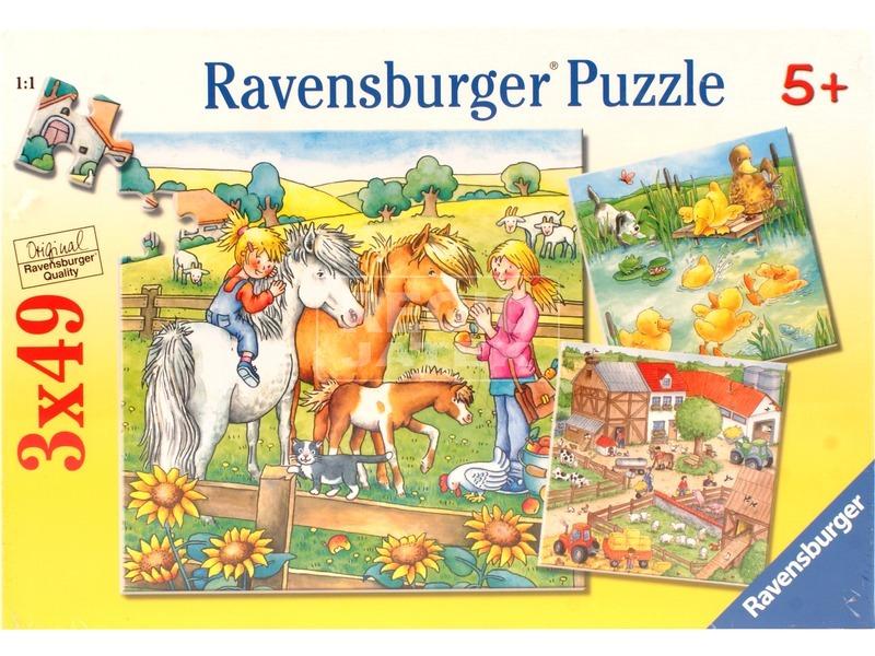 Farm állatok 3 x 49 darabos puzzle