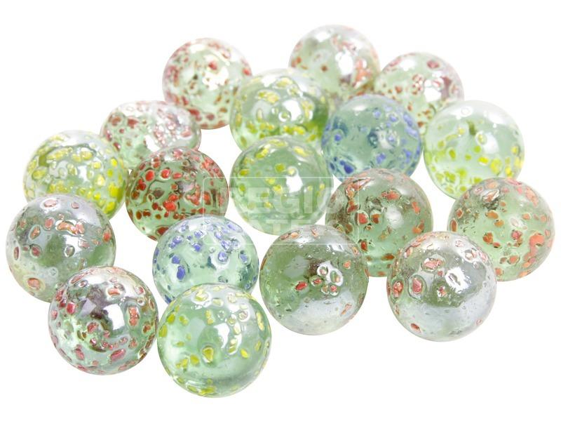 Csillámos üveggolyó 50 darabos készlet - 16 mm