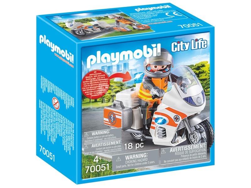 Playmobil Mentőorvos motorkerékpárral 70051