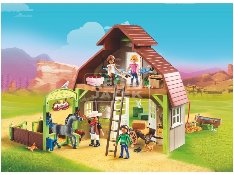 kép nagyítása Playmobil Lucky, Prudi és Abigél istállója 70118