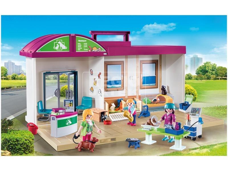 kép nagyítása Playmobil Hordozható állatorvosi rendelő 70146