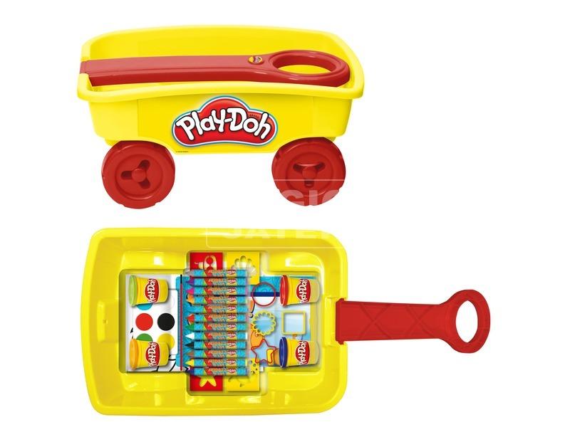 kép nagyítása Play Doh húzható kiskocsi gyurmakészlet