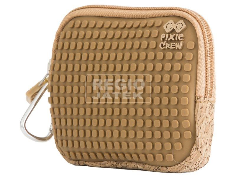 Pixie neszesszer - barna, parafa mintás