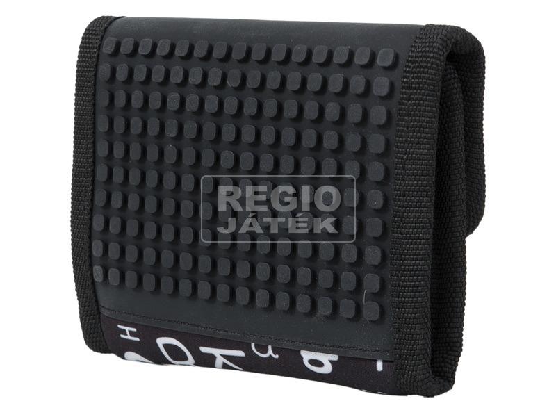 Pixie pénztárca - fekete, betű mintás