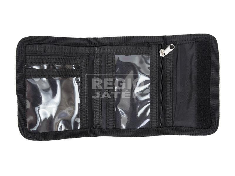 kép nagyítása Pixie pénztárca - fekete, betű mintás