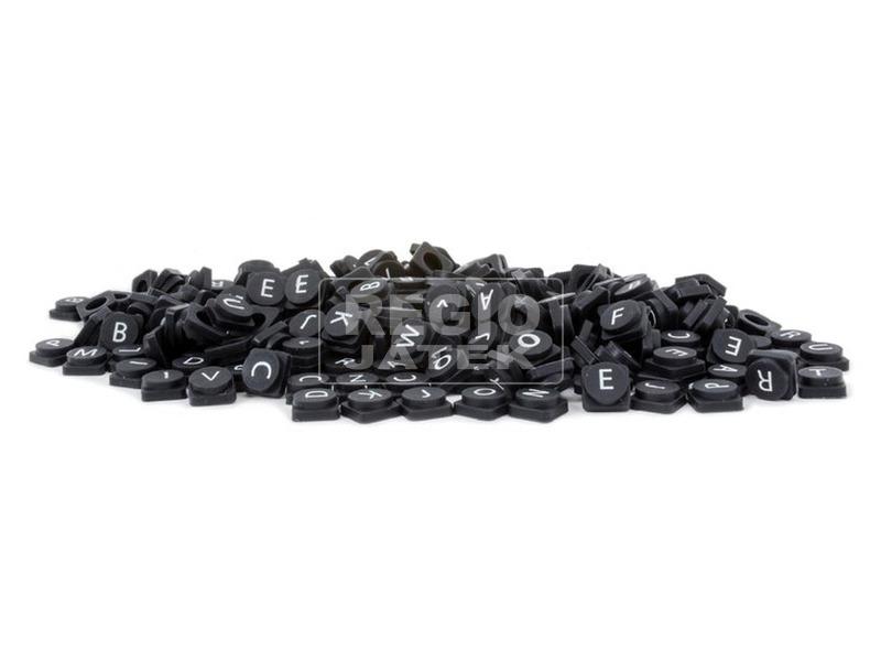 kép nagyítása Pixiebetűk fekete-fehér