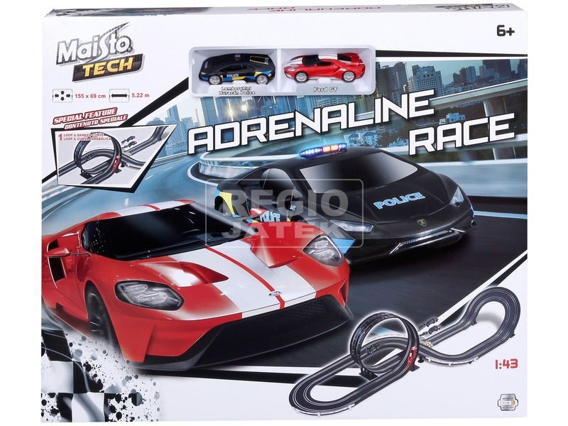 kép nagyítása Maisto Tech 1:43 Adrenalin verseny autópálya