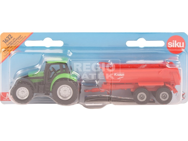 Siku: Deutz-Fahr traktor utánfutóval - 1:87