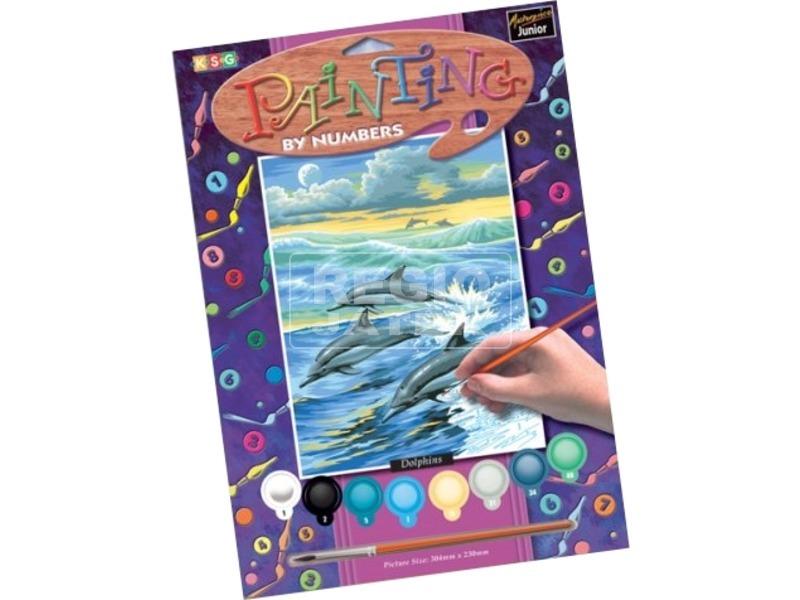 Festhető kép-Delfinek