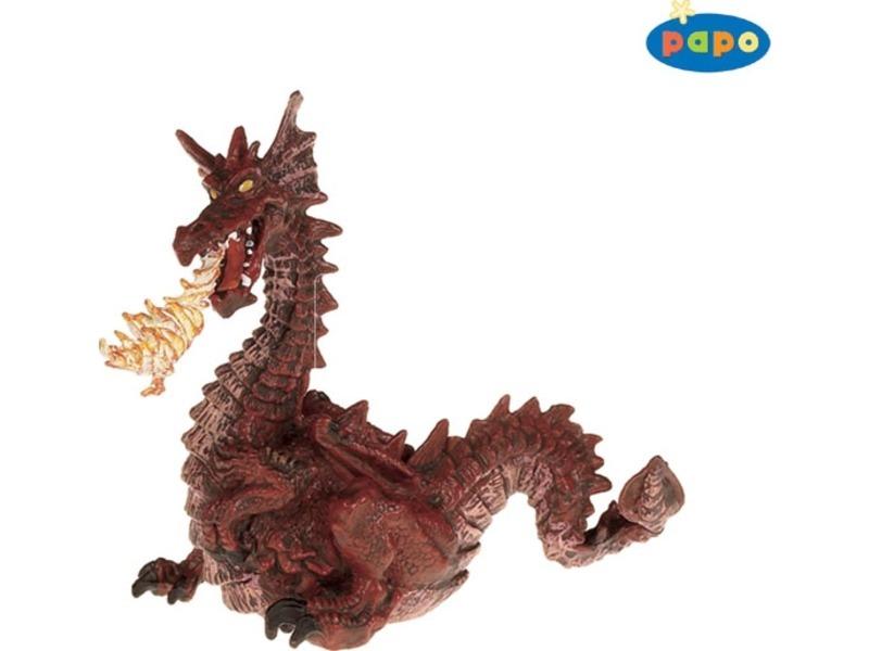 Papo piros sárkány figura