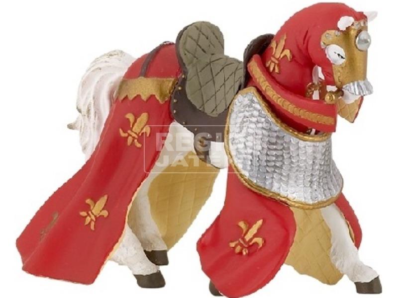 Papo Középkori ló lepellel /piros-sárga /39390
