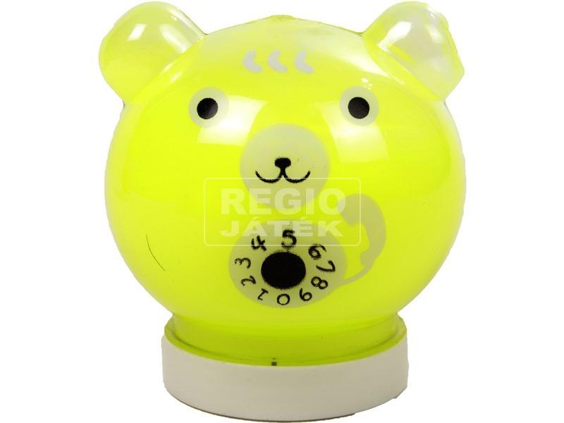kép nagyítása Neon Slime macifejben - 220 ml, többféle