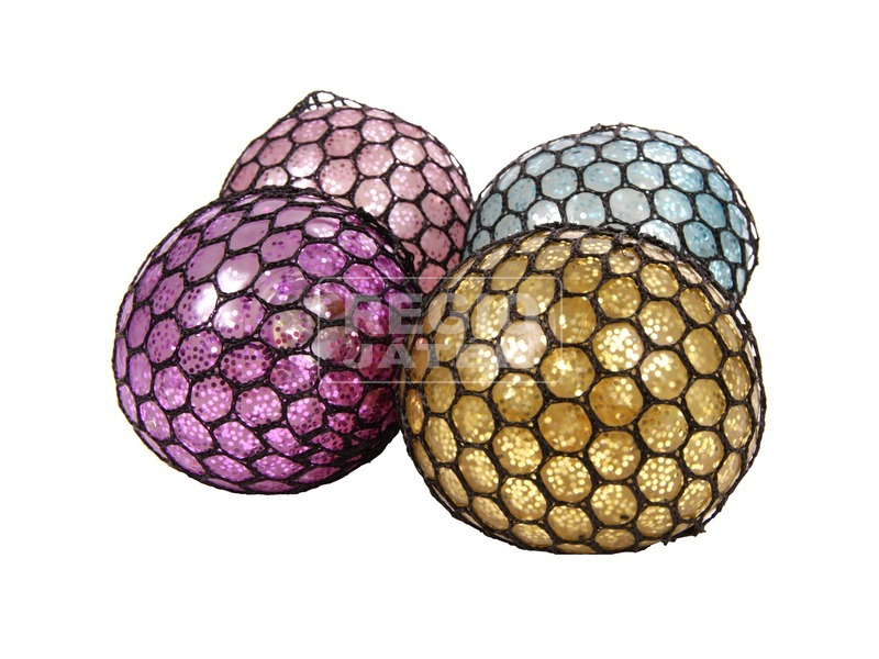 Slime labda fénnyel - 7 cm, többféle
