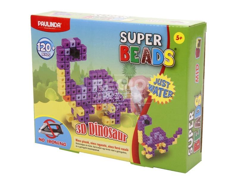 Super Beads 3D dínó gyöngykészlet