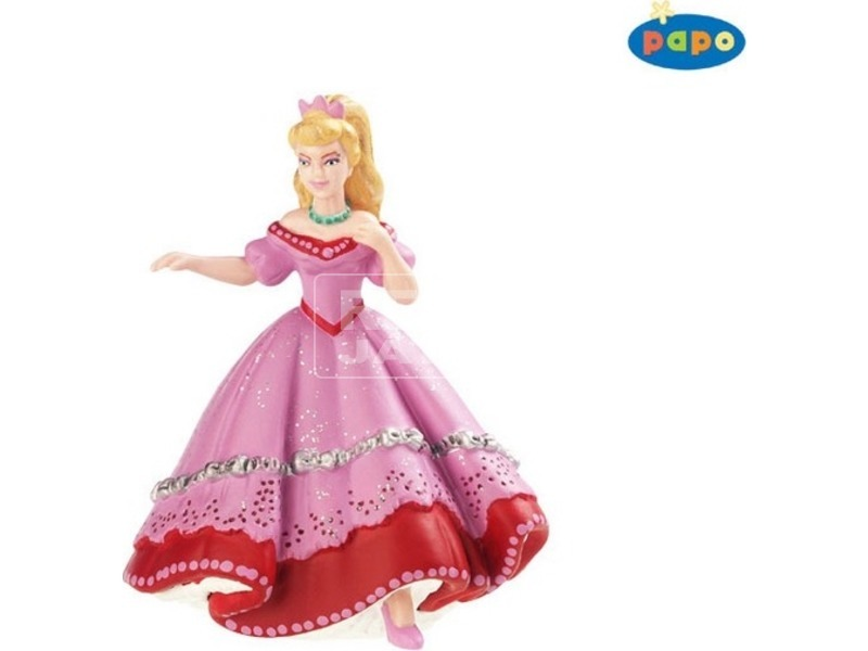Papo rózsaszín ruhás hercegnő figura