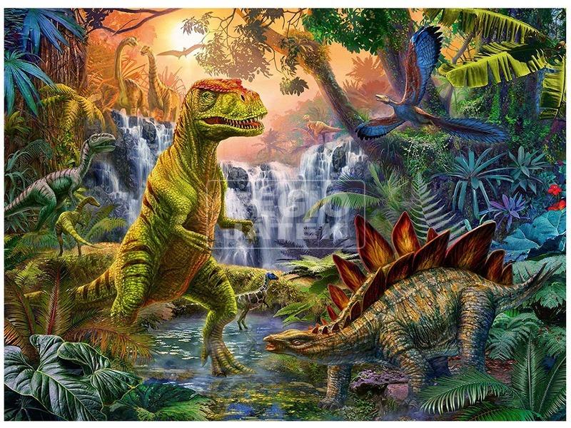 kép nagyítása Dínó oázis 100 darabos puzzle