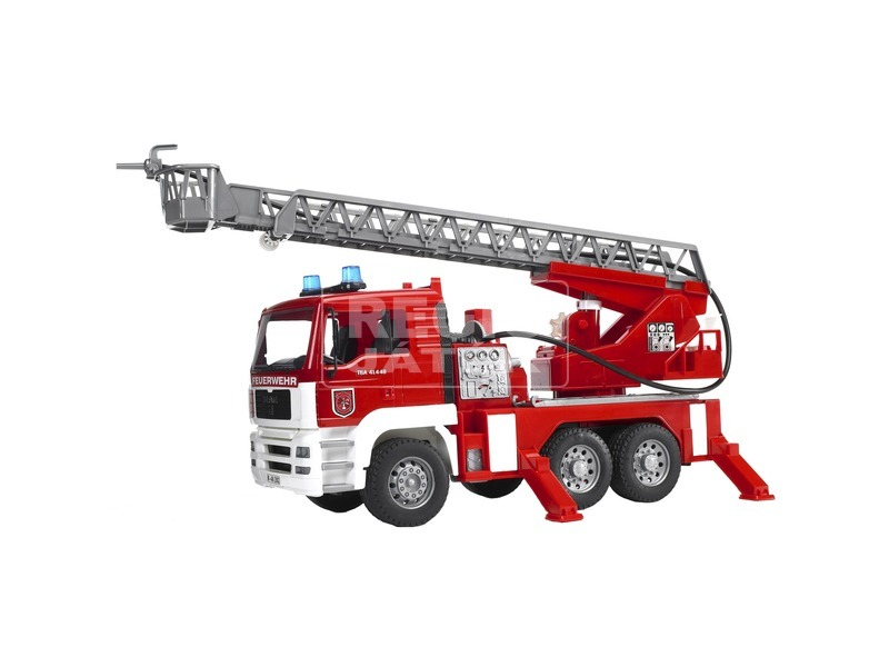 Bruder MAN tűzoltóautó vízpumpa +hang /fény