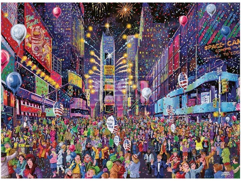 kép nagyítása Puzzle 500 db - Times Square Szilveszter