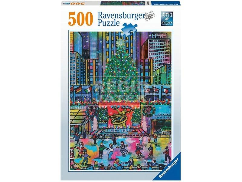 Puzzle 500 db - Rockefeller Karácsony