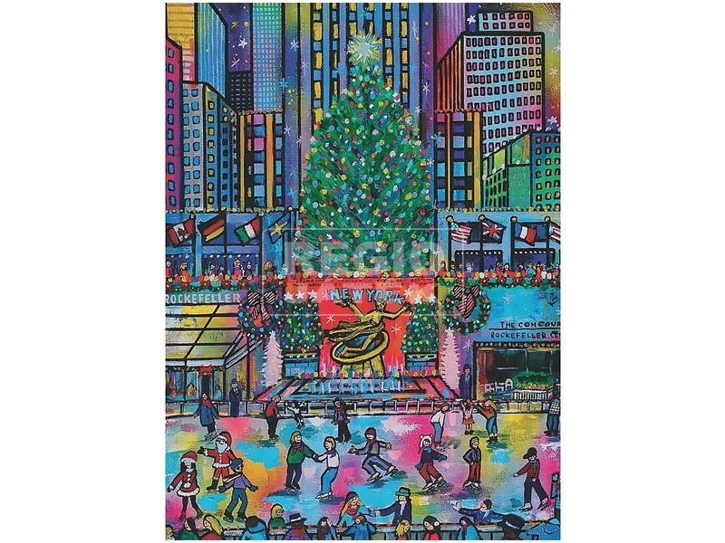 kép nagyítása Puzzle 500 db - Rockefeller Karácsony