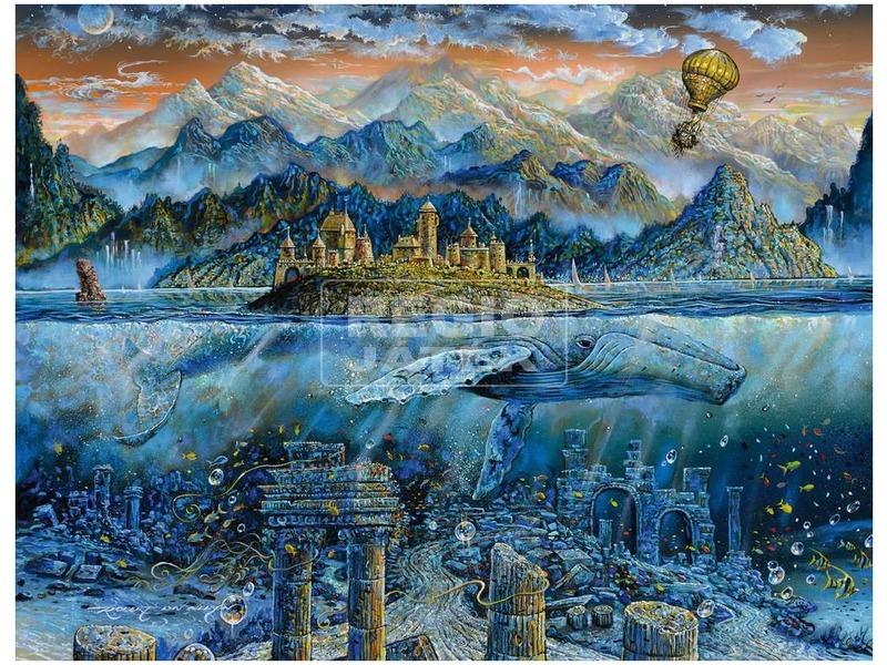 kép nagyítása Puzzle 2000 db - A bölcs bálna